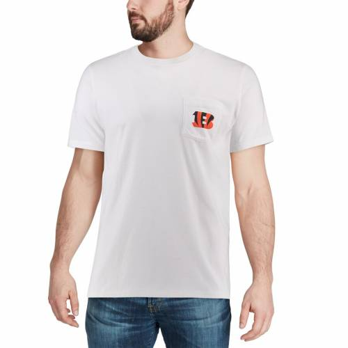 VINEYARD VINES シンシナティ ベンガルズ ロゴ Tシャツ 白 ホワイト 【 WHITE VINEYARD VINES CINCINNATI BENGALS CIRCLE LOGO TSHIRT 】 メンズファッション トップス Tシャツ カットソー