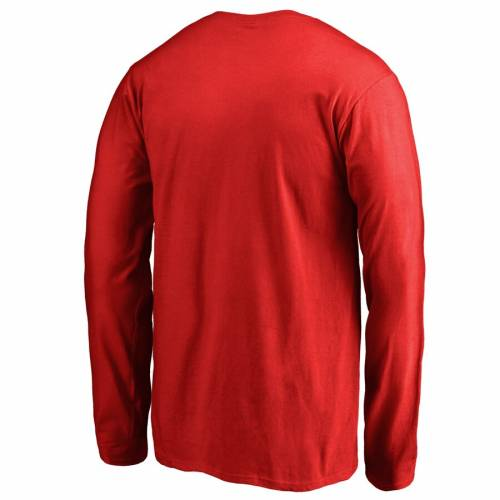 FANATICS BRANDED デトロイト 赤 レッド 子供用 ロゴ スリーブ Tシャツ キッズ ベビー マタニティ トップス ジュニア 【 Detroit Red Wings Rinkside Youth Primary Logo Long Sleeve T-shirt - Red 】 Red