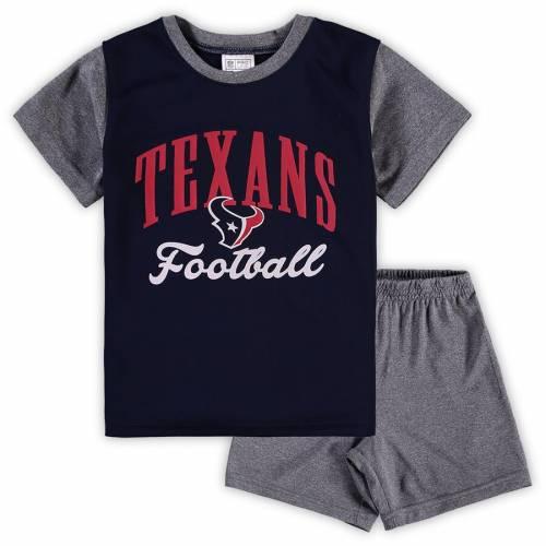 NFL PRO LINE BY FANATICS BRANDED ヒューストン テキサンズ ベビー 赤ちゃん用 ビクトリー スクリプト Tシャツ 灰色 グレー グレイ キッズ マタニティ ジュニア 【 Houston Texans Toddler Two-piece Victory