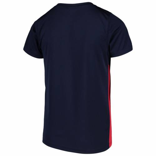 NFL PRO LINE BY FANATICS BRANDED ヒューストン テキサンズ 子供用 チーム Tシャツ キッズ ベビー マタニティ トップス ジュニア 【 Houston Texans Youth Team Lockup Colorblock T-shirt - Navy/red 】 Navy/red