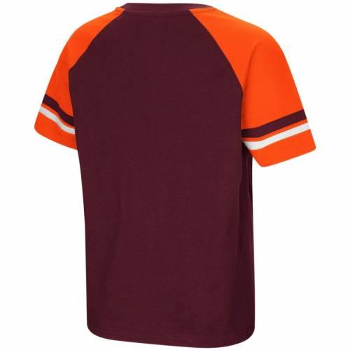 COLOSSEUM バージニア テック 子供用 ラグラン Tシャツ キッズ ベビー マタニティ トップス ジュニア 【 Virginia Tech Hokies Youth Rad Tad Raglan T-shirt - Maroon 】 Maroon