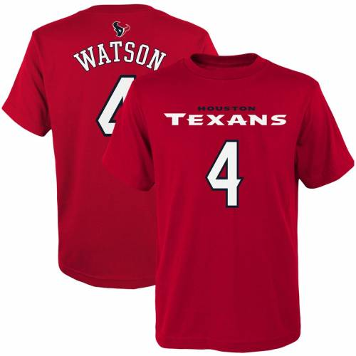 OUTERSTUFF ヒューストン テキサンズ 子供用 Tシャツ 紺 ネイビー キッズ ベビー マタニティ トップス ジュニア 【 Deshaun Watson Houston Texans Youth Mainliner Player Name And Number T-shirt - Navy 】 Red