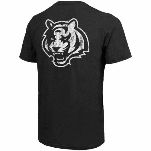 MAJESTIC THREADS シンシナティ ベンガルズ Tシャツ 黒 ブラック メンズファッション トップス カットソー メンズ 【 Cincinnati Bengals Tri-blend Pocket T-shirt - Black 】 Black