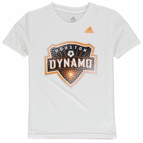 アディダス ADIDAS ヒューストン 子供用 Tシャツ 白 ホワイト キッズ ベビー マタニティ トップス ジュニア 【 Houston Dynamo Youth Tiled Climalite T-shirt - White 】 White