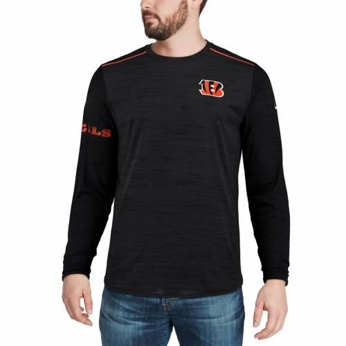 ナイキ NIKE シンシナティ ベンガルズ サイドライン スリーブ パフォーマンス Tシャツ 黒 ブラック メンズファッション トップス カットソー メンズ 【 Cincinnati Bengals Sideline Player Long Sleev