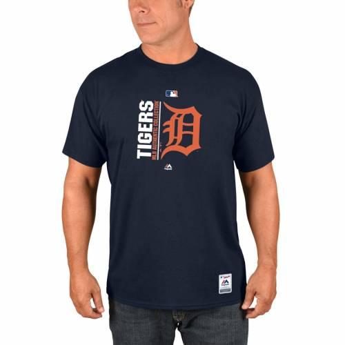 マジェスティック MAJESTIC デトロイト タイガース オーセンティック コレクション チーム アイコン Tシャツ 紺 ネイビー メンズファッション トップス カットソー メンズ 【 Detroit Tigers A