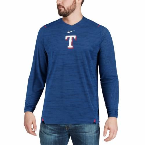 ナイキ NIKE テキサス レンジャーズ スリーブ パフォーマンス Tシャツ メンズファッション トップス カットソー メンズ 【 Texas Rangers Ac Breathe Long Sleeve Performance T-shirt - Royal 】 Royal