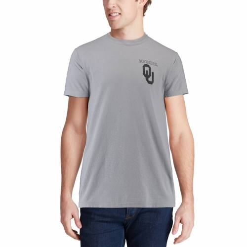 IMAGE ONE キャンパス Tシャツ 灰色 グレー グレイ 【 GRAY IMAGE ONE OKLAHOMA SOONERS COMFORT COLORS CAMPUS SCENERY TSHIRT 】 メンズファッション トップス Tシャツ カットソー