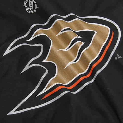 リーボック REEBOK 子供用 Tシャツ 黒 ブラック キッズ ベビー マタニティ トップス ジュニア 【 Ryan Getzlaf Anaheim Ducks Youth Name And Number Player T-shirt - Black 】 Black