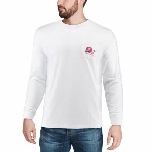 VINEYARD VINES バージニア テック スリーブ Tシャツ 白 ホワイト メンズファッション トップス カットソー メンズ 【 Virginia Tech Hokies Pocket Long Sleeve T-shirt - White 】 White