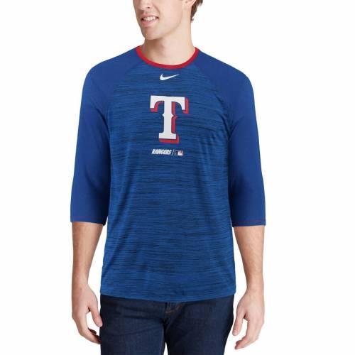 ナイキ NIKE テキサス レンジャーズ ラグラン Tシャツ メンズファッション トップス カットソー メンズ 【 Texas Rangers Velocity 3/4-sleeve Raglan T-shirt - Royal 】 Royal