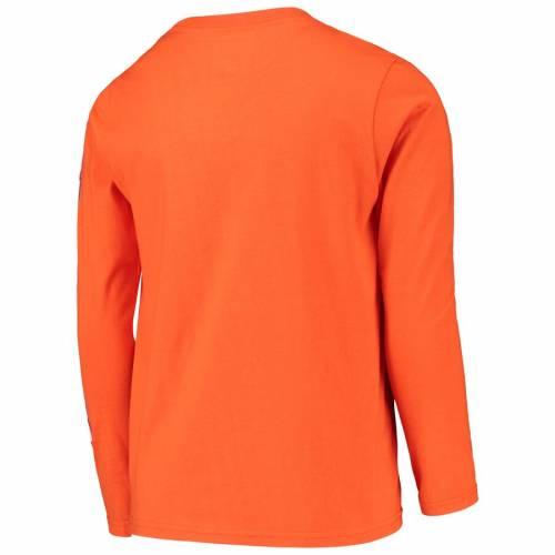 OUTERSTUFF タイガース 子供用 トランジション スリーブ Tシャツ 橙 オレンジ キッズ ベビー マタニティ トップス ジュニア 【 Clemson Tigers Youth Transition Two-hit Long Sleeve T-shirt - Orange 】 Orange