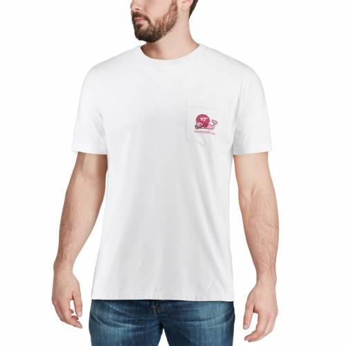 VINEYARD VINES バージニア テック Tシャツ 白 ホワイト メンズファッション トップス カットソー メンズ 【 Virginia Tech Hokies Pocket T-shirt - White 】 White