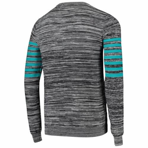 FOCO マイアミ ドルフィンズ ニット ヘンリー スリーブ Tシャツ 灰色 グレー グレイ メンズファッション トップス カットソー メンズ 【 Miami Dolphins Marled Knit Henley Long Sleeve T-shirt - Gray 】 Gr