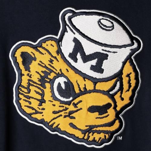 スターター STARTER ミシガン フィールド ジャージ スリーブ Tシャツ メンズファッション トップス カットソー メンズ 【 Michigan Wolverines Field Jersey Long Sleeve T-shirt - Navy/maize 】 Navy/maize
