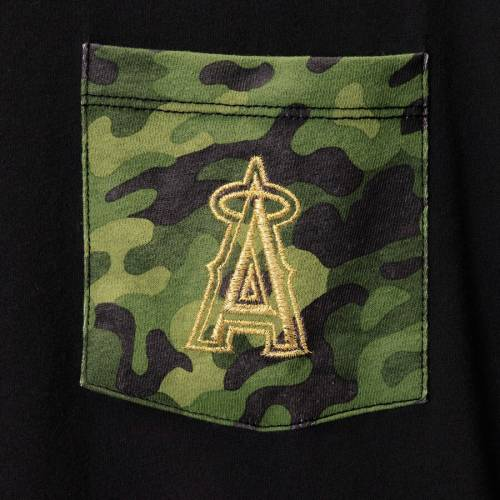 ニューエラ NEW ERA エンジェルス スペシャル Tシャツ 黒 ブラック 【 ANGELS SPECIAL BLACK NEW ERA LOS ANGELES ARMED FORCES CAMO POCKET TSHIRT 】 メンズファッション トップス Tシャツ カットソー