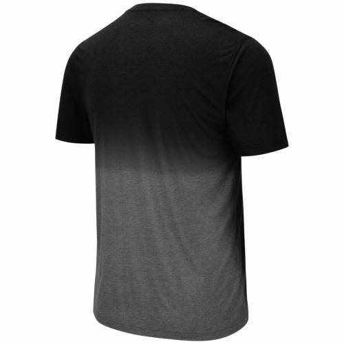 COLOSSEUM Tシャツ 黒 ブラック 【 BLACK COLOSSEUM NEBRASKA CORNHUSKERS FANCY WALKING DIP DYE TSHIRT 】 メンズファッション トップス Tシャツ カットソー