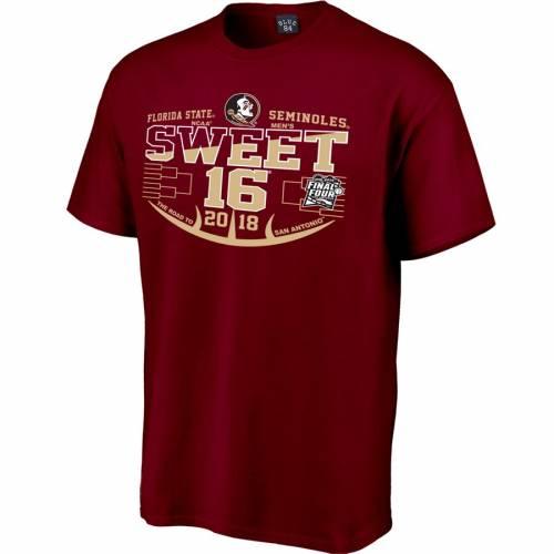 STEP AHEAD SPORTSWEAR フロリダ スケートボード バスケットボール マッドネス Tシャツ MEN'S 【 STATE FLORIDA SEMINOLES 2018 NCAA BASKETBALL TOURNAMENT MARCH MADNESS SWEET 16 BOUND TSHIRT GARNET 】 メンズファッション