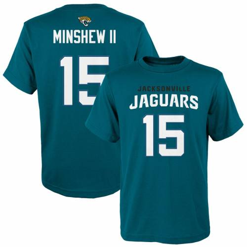 OUTERSTUFF ジャクソンビル ジャガース 子供用 Tシャツ キッズ ベビー マタニティ トップス ジュニア 【 Gardner Minshew Ii Jacksonville Jaguars Youth Mainliner Player Name And Number T-shirt 】 Teal