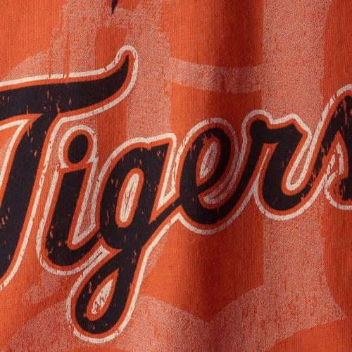 MAJESTIC THREADS デトロイト タイガース Tシャツ 橙 オレンジ メンズファッション トップス カットソー メンズ 【 Detroit Tigers Visionary Tri-blend T-shirt - Orange 】 Orange