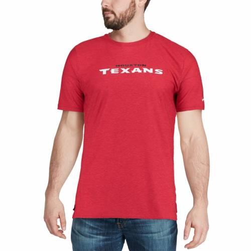 ナイキ NIKE ヒューストン テキサンズ サイドライン Tシャツ 赤 レッド メンズファッション トップス カットソー メンズ 【 Houston Texans Sideline Player T-shirt - Red 】 Red
