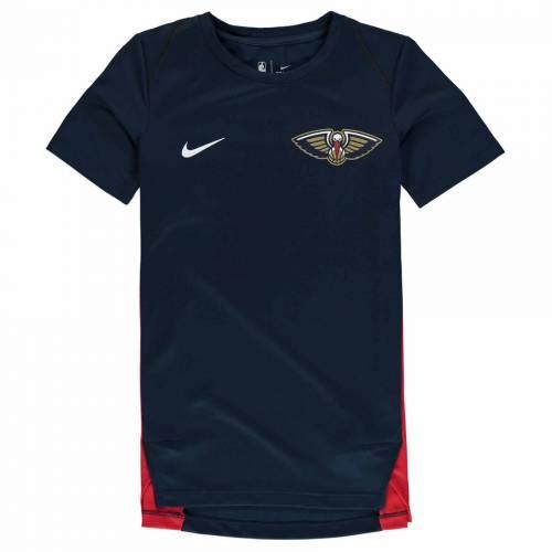 ナイキ NIKE 子供用 パフォーマンス Tシャツ 紺 ネイビー キッズ ベビー マタニティ トップス ジュニア 【 New Orleans Pelicans Youth Hyperelite Shooter Performance T-shirt - Navy 】 Navy