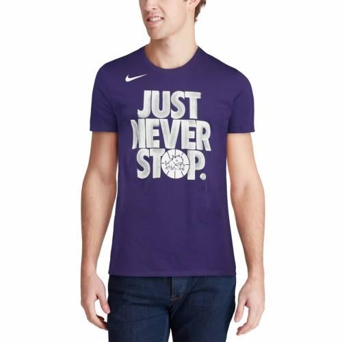ナイキ NIKE Tシャツ 【 TCU HORNED FROGS SELECTION SUNDAY TSHIRT PURPLE 】 メンズファッション トップス カットソー 送料無料
