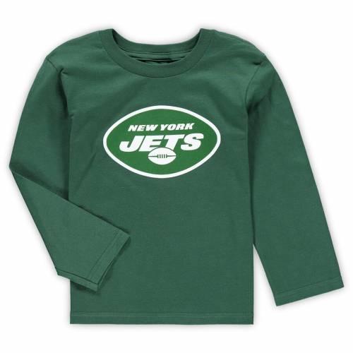 OUTERSTUFF ジェッツ 男の子 女の子 子供用 チーム ロゴ スリーブ Tシャツ 緑 グリーン キッズ ベビー マタニティ トップス ジュニア 【 New York Jets Preschool Team Logo Long Sleeve T-shirt - Green 】 Green