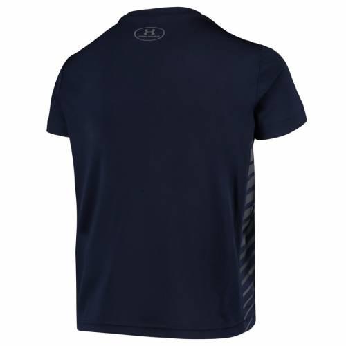 アンダーアーマー UNDER ARMOUR 子供用 パフォーマンス Tシャツ 紺 ネイビー キッズ ベビー マタニティ トップス ジュニア 【 Notre Dame Fighting Irish Youth Novelty Performance T-shirt - Navy 】 Navy