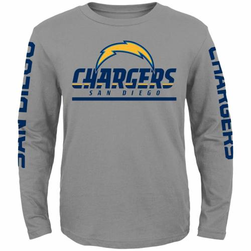 OUTERSTUFF チャージャーズ 子供用 スリーブ Tシャツ キッズ ベビー マタニティ トップス ジュニア 【 San Diego Chargers Youth Long Sleeve T-shirt 2-pack - Navy/gray 】 Navy/gray