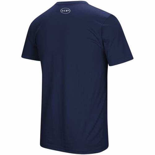 アンダーアーマー UNDER ARMOUR デトロイト タイガース パッション ロゴ Tシャツ 紺 ネイビー メンズファッション トップス カットソー メンズ 【 Detroit Tigers Passion Stitch Logo Tri-blend T-shirt - N