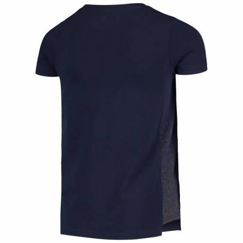 アンダーアーマー UNDER ARMOUR 子供用 パフォーマンス Tシャツ 紺 ネイビー キッズ ベビー マタニティ トップス ジュニア 【 Notre Dame Fighting Irish Girls Youth Shimmer Performance T-shirt - Navy 】 Navy