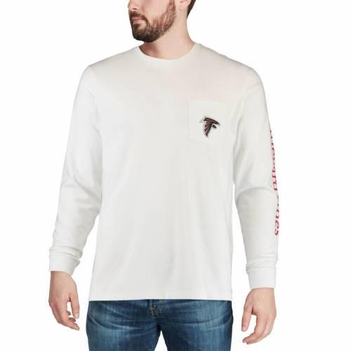 VINEYARD VINES アトランタ ファルコンズ Tシャツ 白 ホワイト メンズファッション トップス カットソー メンズ 【 Atlanta Falcons Every Day Should Feel This Good T-shirt - White 】 White