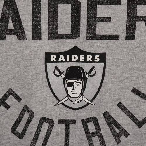 OUTERSTUFF レイダース 子供用 レガシー スリーブ Tシャツ キッズ ベビー マタニティ トップス ジュニア 【 Las Vegas Raiders Youth Retro Legacy Long Sleeve T-shirt - Gray/black 】 Gray/black