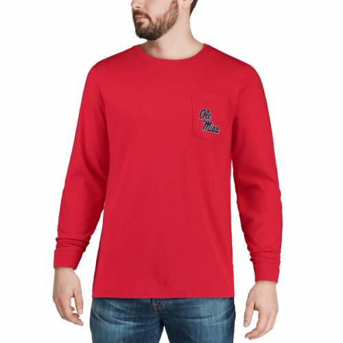 SOUTHERN TIDE スリーブ Tシャツ 赤 レッド メンズファッション トップス カットソー メンズ 【 Ole Miss Rebels Skipjack Play Long Sleeve T-shirt - Red 】 Red