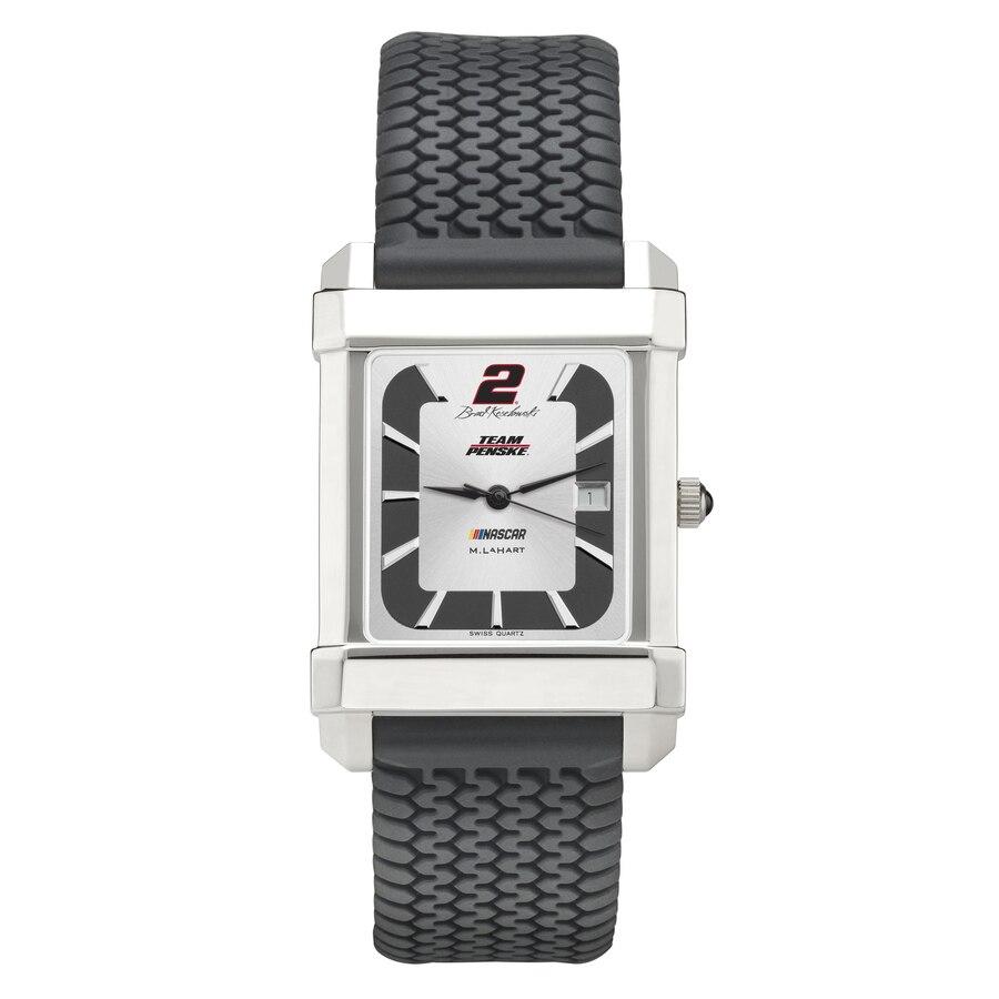 M. LAHART & COMPANY ラバー ストラップ 銀色 スチール ウォッチ 時計 M. & 【 WATCH LAHART COMPANY BRAD KESELOWSKI RUBBER STRAP STEEL COLOR 】 腕時計 メンズ腕時計