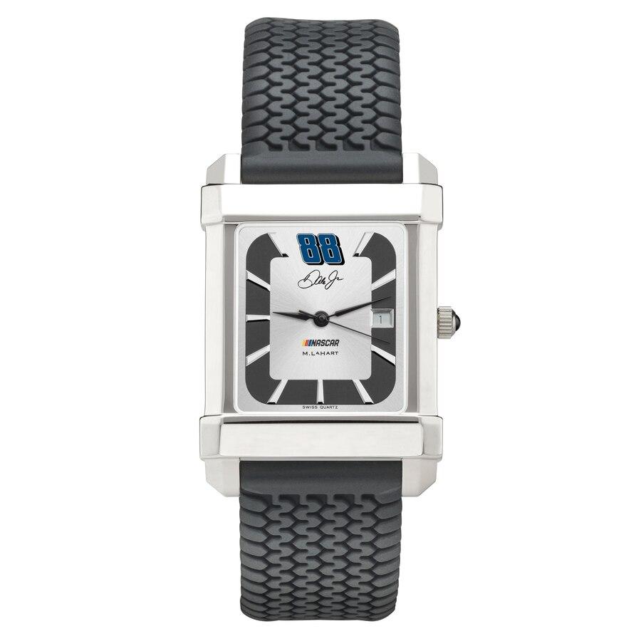M. LAHART & COMPANY ラバー ストラップ 銀色 スチール ウォッチ 時計 M. & JR. 【 WATCH LAHART COMPANY DALE EARNHARDT RUBBER STRAP STEEL COLOR 】 腕時計 メンズ腕時計