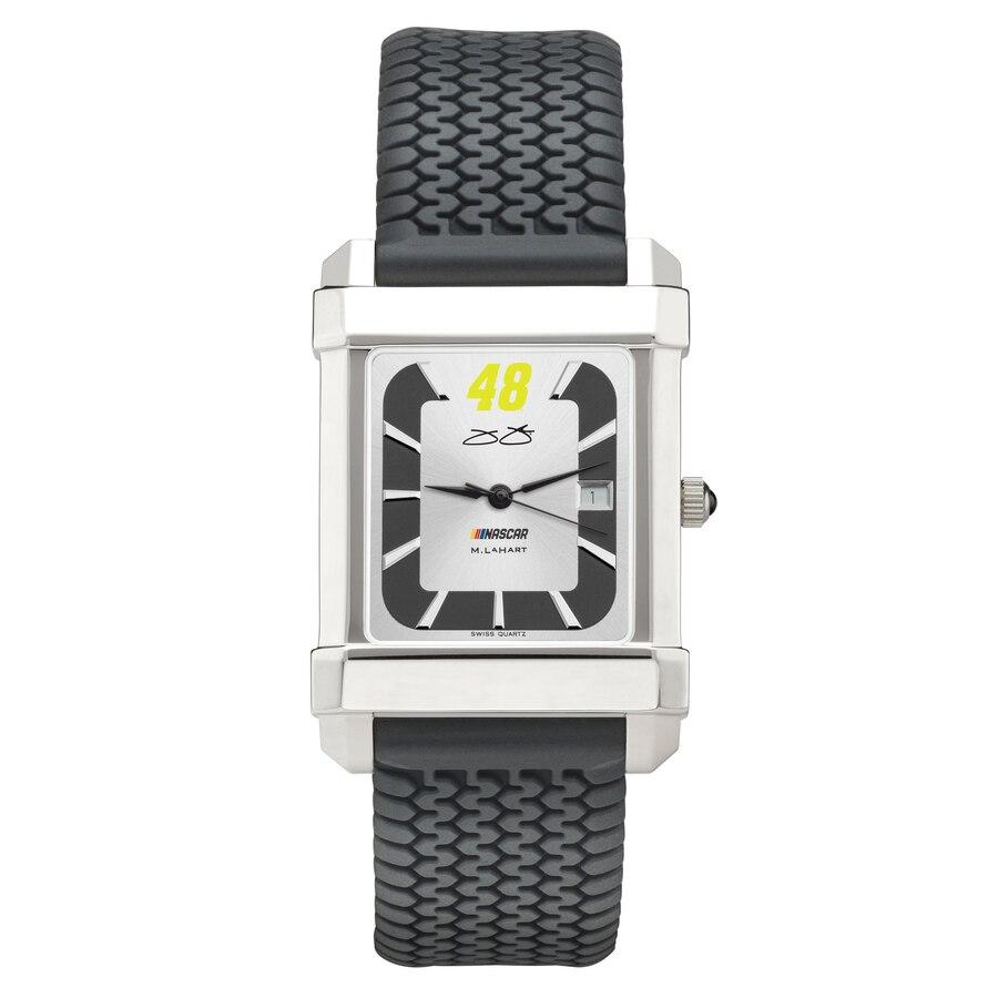 M. LAHART & COMPANY ジョンソン ラバー ストラップ 銀色 スチール ウォッチ 時計 M. & 【 WATCH LAHART COMPANY JIMMIE JOHNSON RUBBER STRAP STEEL COLOR 】 腕時計 メンズ腕時計