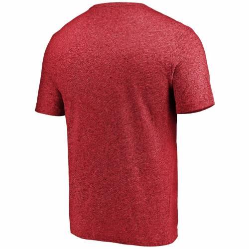 マジェスティック MAJESTIC マジェスティック アトランタ ファルコンズ ロゴ Tシャツ 赤 レッド 【 RED MAJESTIC ATLANTA FALCONS STATIC LOGO MARLED TSHIRT 】 メンズファッション トップス Tシャツ カッ