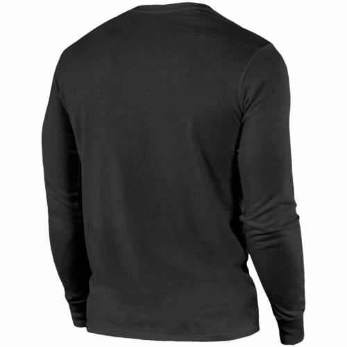 MAJESTIC THREADS アトランタ ファルコンズ スリーブ Tシャツ 黒 ブラック メンズファッション トップス カットソー メンズ 【 Atlanta Falcons Lockup Tri-blend Long Sleeve T-shirt - Black 】 Black