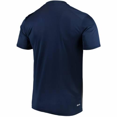 アディダス ADIDAS Tシャツ 紺 ネイビー 【 NAVY ADIDAS LA GALAXY CLIMALITE TSHIRT 】 メンズファッション トップス Tシャツ カットソー