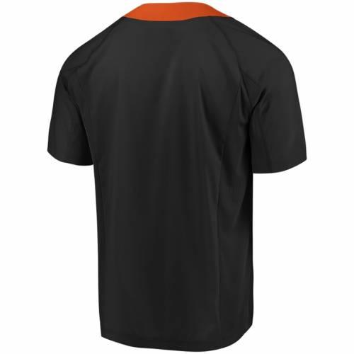 マジェスティック MAJESTIC マジェスティック ジャイアンツ クール Tシャツ 黒 ブラック 橙 オレンジ & 【 BLACK ORANGE MAJESTIC SAN FRANCISCO GIANTS BIG TALL NEVER WANNA COOL BASE TSHIRT 】 メンズファッシ