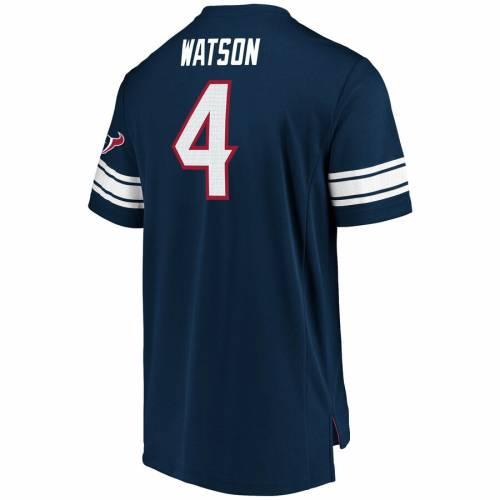 NFL PRO LINE BY FANATICS BRANDED ヒューストン テキサンズ ブイネック Tシャツ 紺 ネイビー メンズファッション トップス カットソー メンズ 【 Deshaun Watson Houston Texans Fanatics Branded Hashmark Player Nam