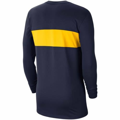 JORDAN BRAND ミシガン パフォーマンス スリーブ Tシャツ 紺 ネイビー メンズファッション トップス カットソー メンズ 【 Michigan Wolverines Pregame Performance Long Sleeve T-shirt - Navy 】 Navy