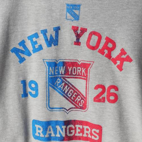 OUTERSTUFF レンジャーズ 子供用 ラグラン スリーブ Tシャツ キッズ ベビー マタニティ トップス ジュニア 【 New York Rangers Youth Utility Raglan Tri-blend Long Sleeve T-shirt - Gray/blue 】 Gray/blue