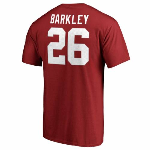 NFL PRO LINE BY FANATICS BRANDED バークリー ジャイアンツ プロ オーセンティック Tシャツ & 【 BARKLEY SAQUON NEW YORK GIANTS PLAYER AUTHENTIC STACK NAME NUMBER TSHIRT RED 】 メンズファッション トップス カッ