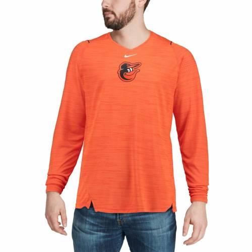 ナイキ NIKE ボルティモア オリオールズ スリーブ パフォーマンス Tシャツ 橙 オレンジ メンズファッション トップス カットソー メンズ 【 Baltimore Orioles Ac Breathe Long Sleeve Performance T-shirt