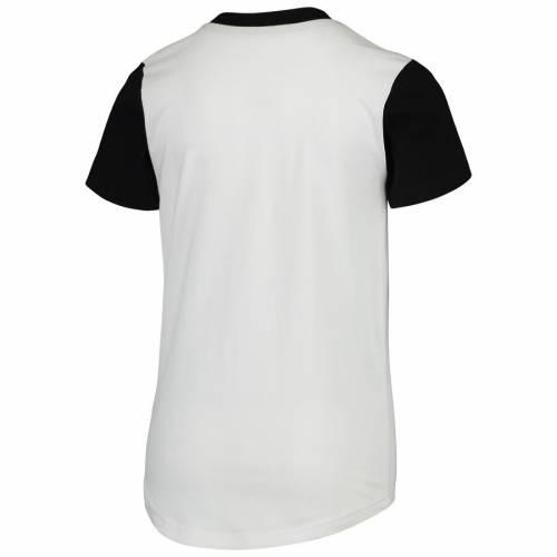OUTERSTUFF ジャイアンツ 子供用 ブイネック Tシャツ キッズ ベビー マタニティ トップス ジュニア 【 San Francisco Giants Youth Heavy Hitter V-neck T-shirt - White/black 】 White/black