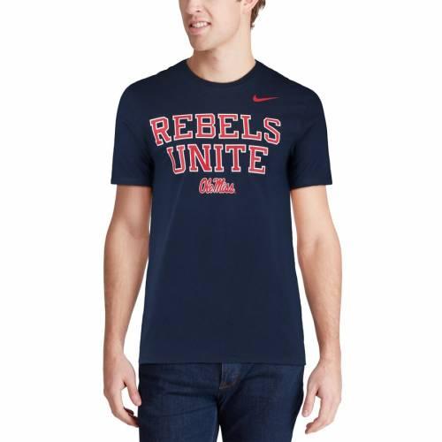 ナイキ NIKE Tシャツ 【 OLE MISS REBELS MANTRA TSHIRT NAVY 】 メンズファッション トップス カットソー 送料無料
