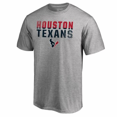 NFL PRO LINE BY FANATICS BRANDED プロ ヒューストン テキサンズ コレクション Tシャツ ヘザー 灰色 グレー グレイ 【 NFL HEATHER GRAY PRO LINE BY FANATICS BRANDED HOUSTON TEXANS ICONIC COLLECTION FADE OUT TSHIRT 】 メ